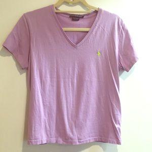 Ralph Lauren sport lavender purple t shirt